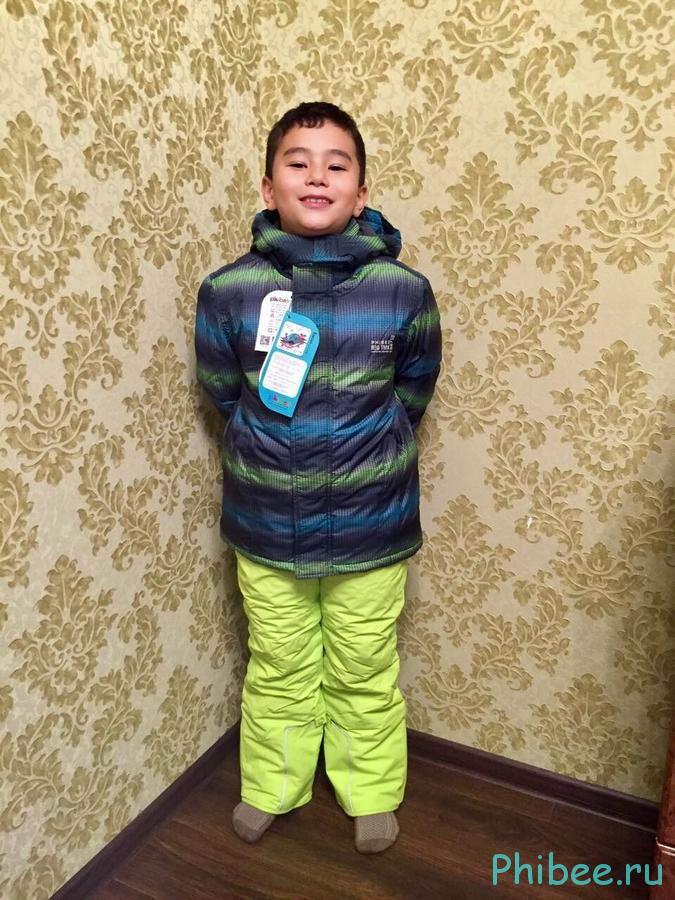 Отзыв о детском горнолыжном костюме Phibee 8093