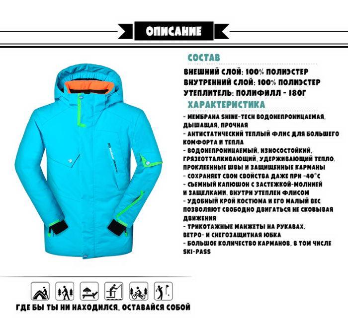 купить мужской костюм для горных лыж