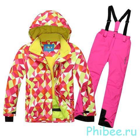 Женский горнолыжный костюм Phibee 8018 Pink