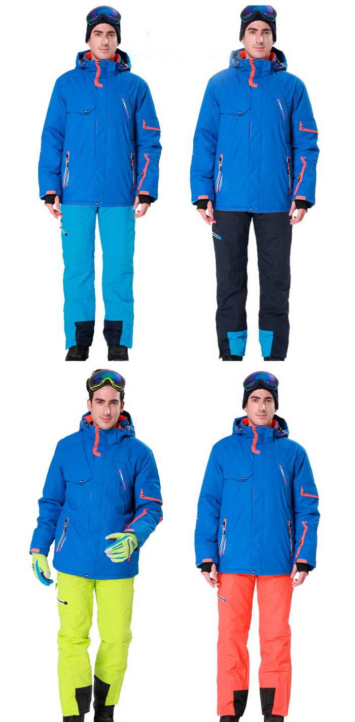 Мужской зимний горнолыжный костюм