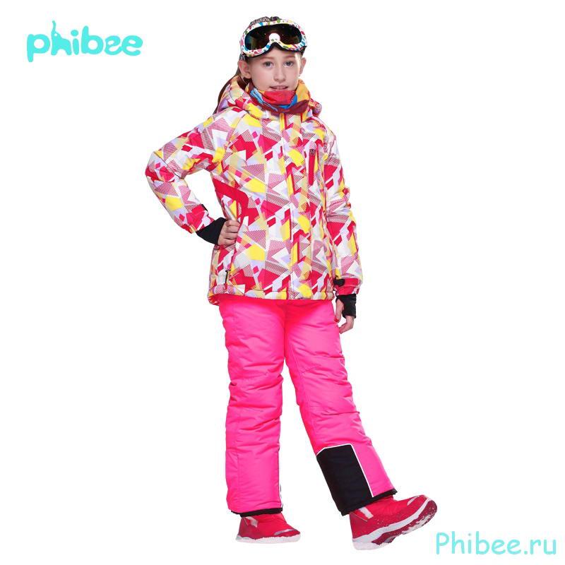 Горнолыжный зимний костюм для девочек Phibee 8019