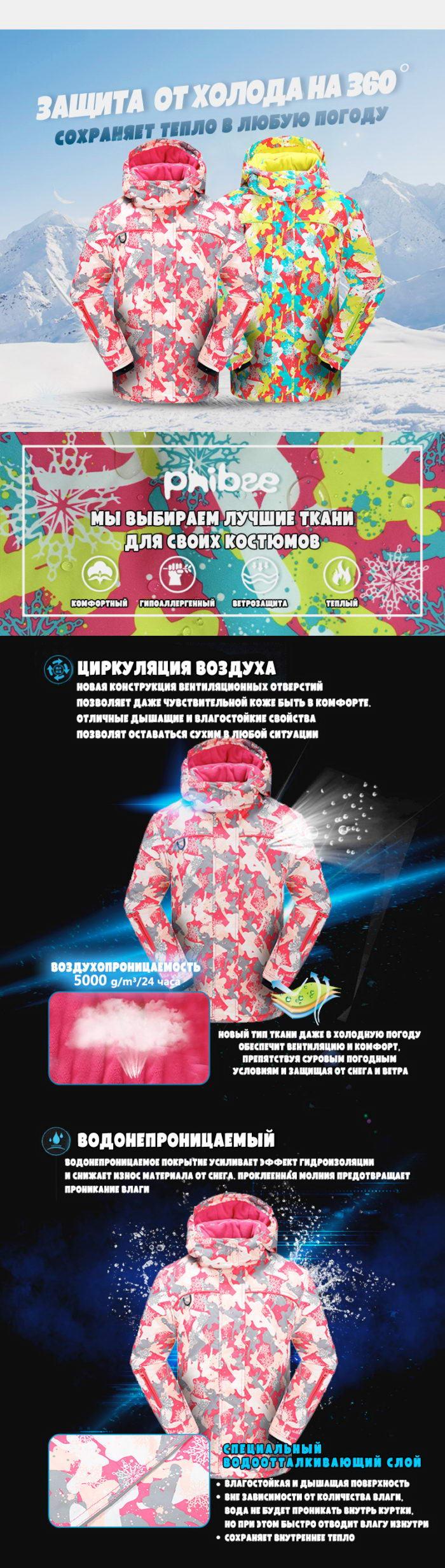 Купить мембранный зимний костюм для девочки
