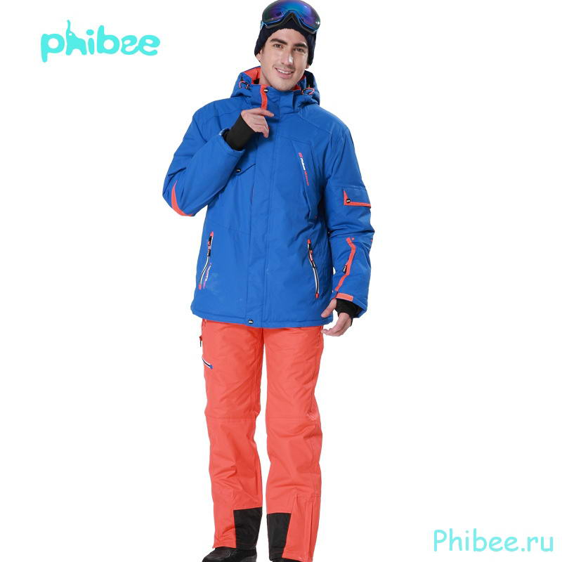 Мужской зимний горнолыжный костюм Phibee 8024