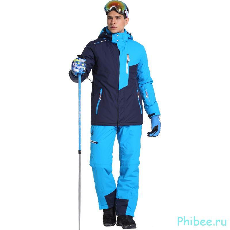 Мужской зимний лыжный костюм Phibee 8034