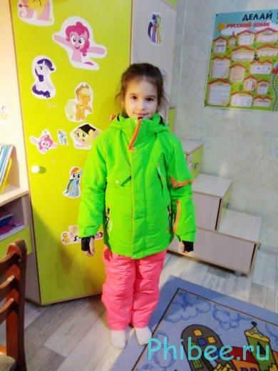 Отзыв о детском зимнем костюме для девочки Phibee 81606