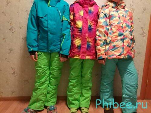 Отзыв о зимних горнолыжных костюмах Phibee