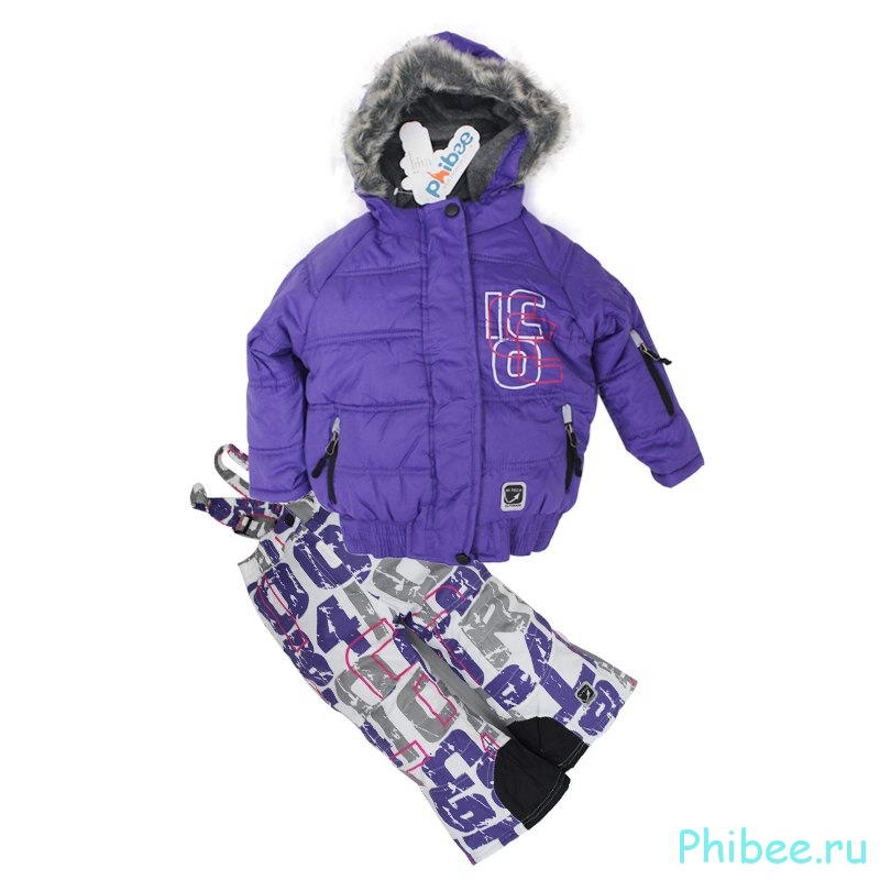 Детский зимний мембранный костюм Phibee kids 14190600 White